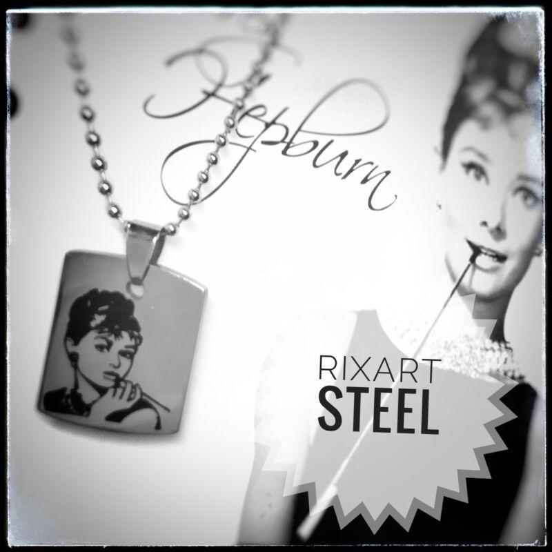 'Audrey Hepburn' nemesacél medál